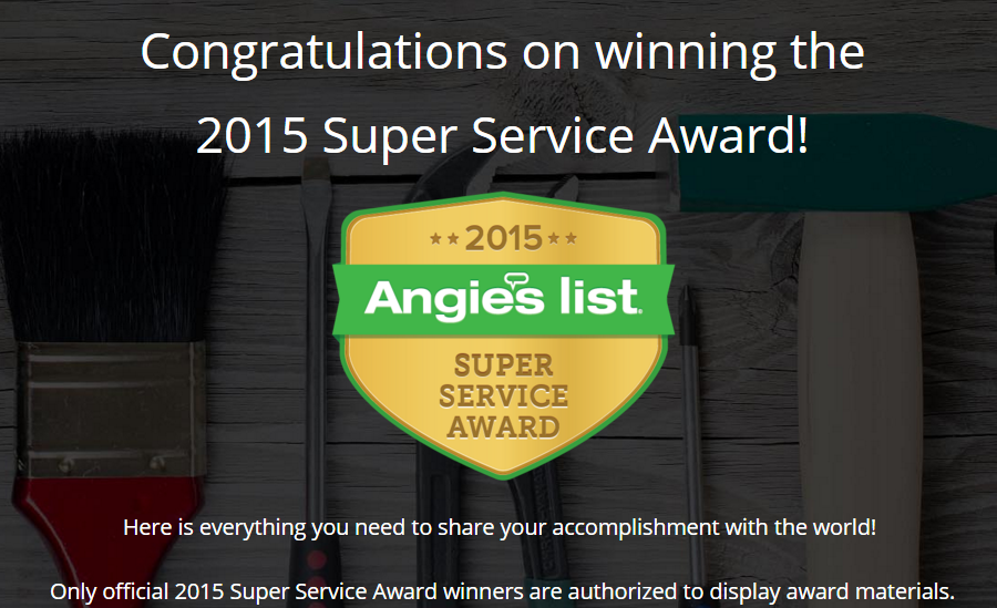 Angies List Winner 2015