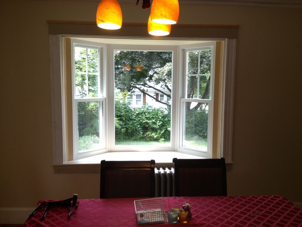 New Bay Window Replacement Window in Waltham, MA