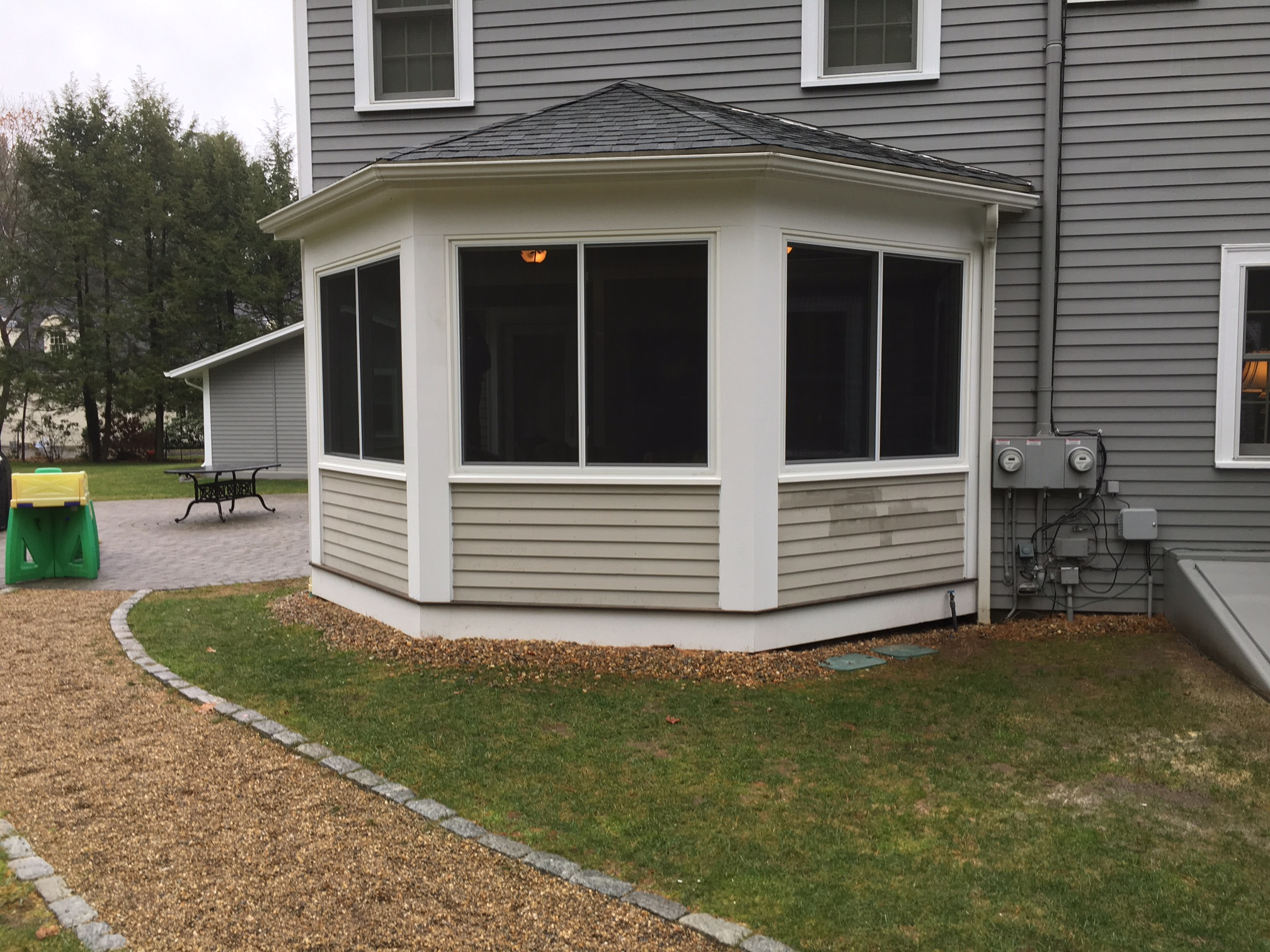 img improvements basking were new monk home enclosed conversion nj s wainscoting installed ridge by porch windows